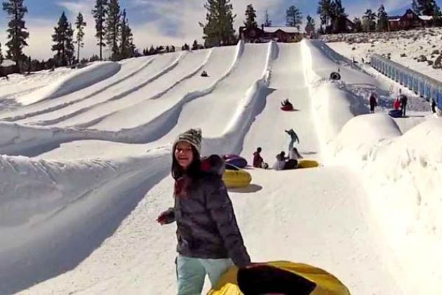 Big Bear Snow Sledding